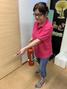 防災訓練-消火器の使い方②